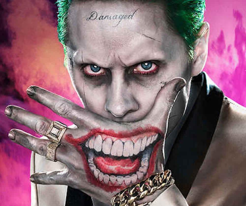 Amazoncom Ss Joker Mr J Face Hand Temporary Tattoos Beauty