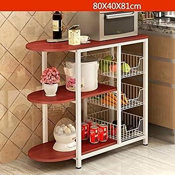 Muebles de cocina Horno de Cocina Horno de Microondas Estantería de Madera Multifunción WXP-armarios