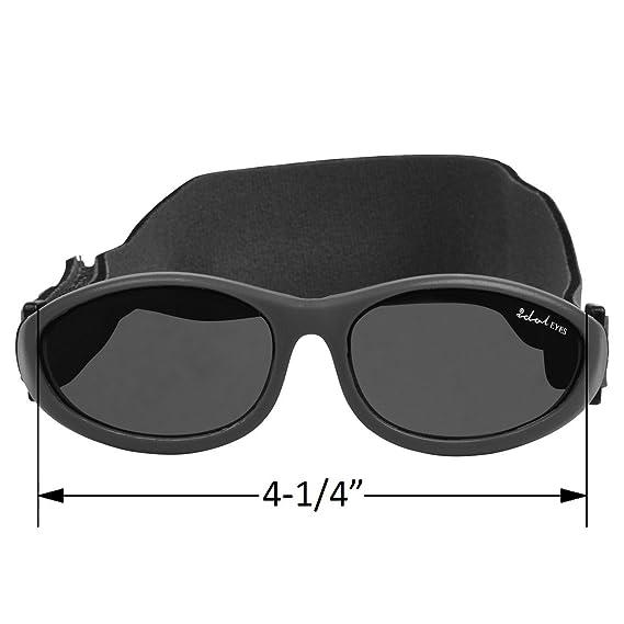 085822cbf4e4b Amazon.com   Idol Eyes Baby   Toddler Flexible Sunglasses (Baby Wrapz) -  Black   Sports   Outdoors
