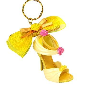 ベル キーチェーン キーホルダー キーリング 黄 ディズニー プリンセス 靴 モチーフ 靴 シリーズ ( 東京 ディズニーリゾート