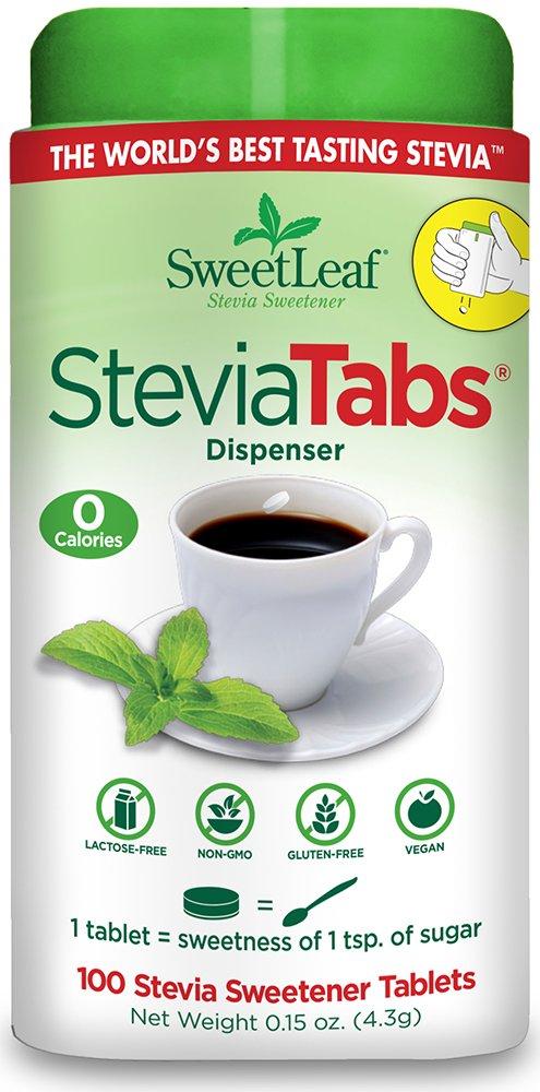 SweetLeaf Stevia Tablets, 100 Count (Pack of 6) by SweetLeaf