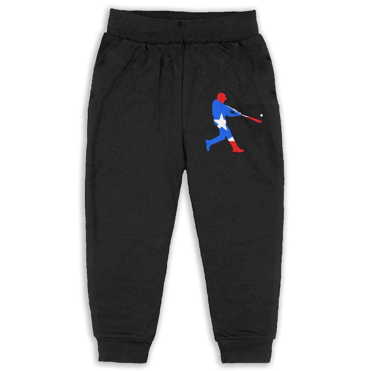 6T Kids Joggers Puerto Rico Baseball Fashion Sweatpants 2T