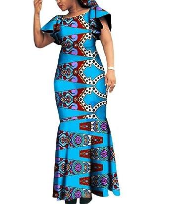 Amazon.com: Kankanluck Women Plus Size Batik Party Dashiki African ...