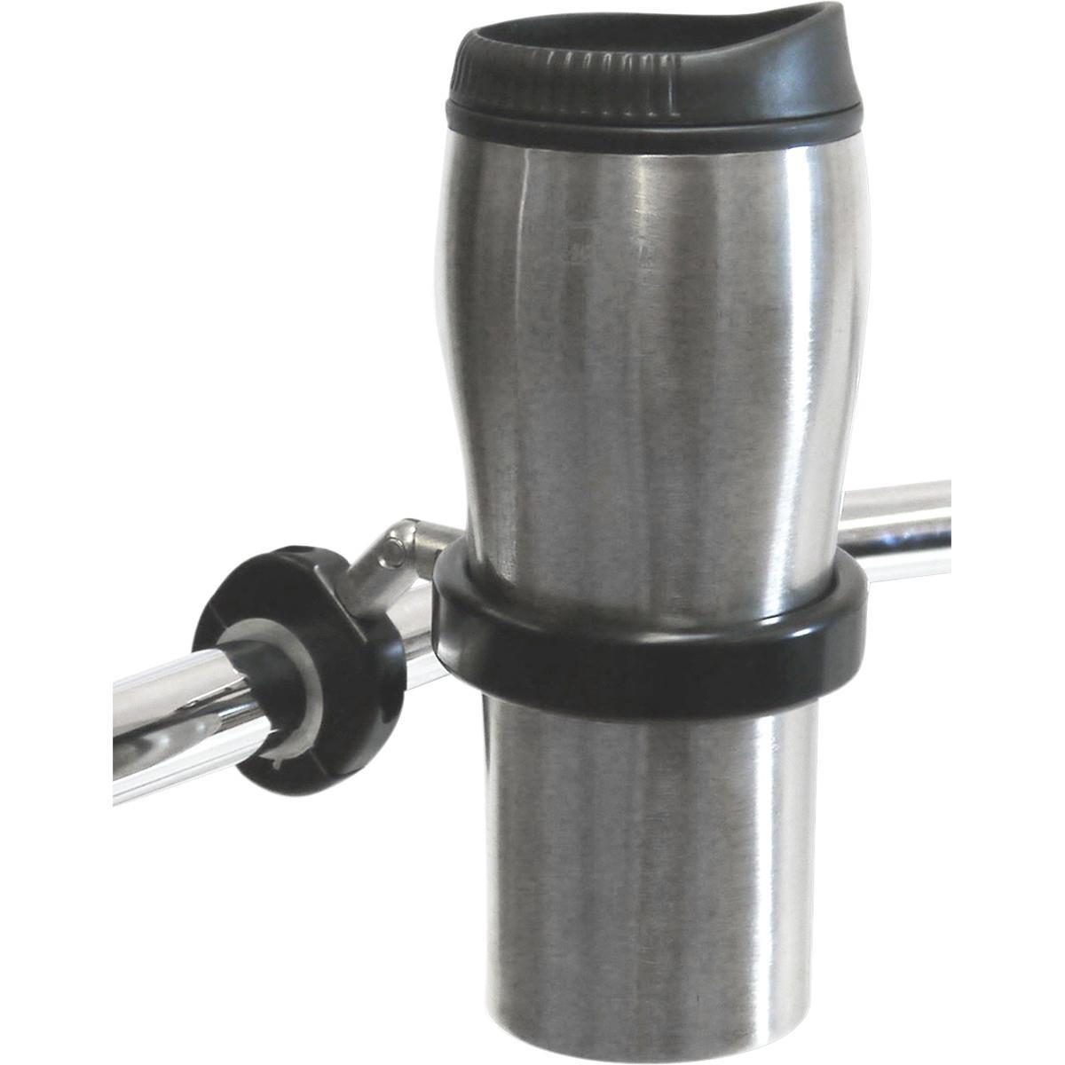 Desert Dawgs RUMFB RoadRunner PLUS Drink Holder w/Travel Mug - 1in. thru 1-1/4in. - Black