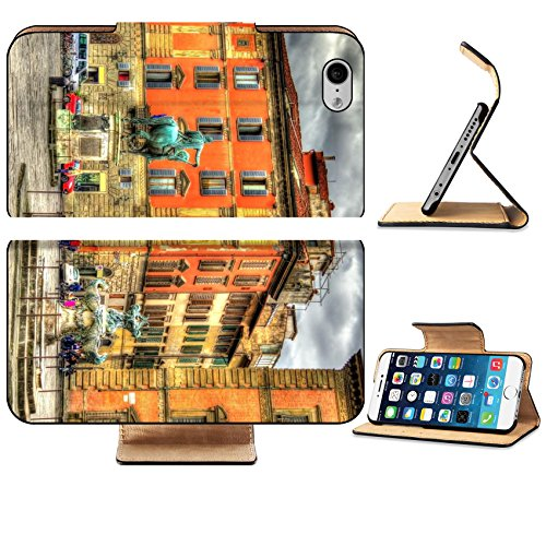 Italian Marble Column - Luxlady Premium Apple iPhone 6 iPhone 6S Flip Pu Leather Wallet Case iPhone6 IMAGE 38960239 Santissima Annunziata square in Florence Italy