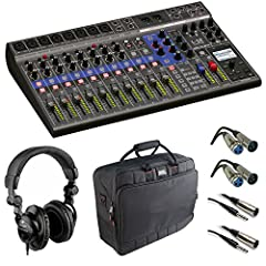 Overview The highly flexible Zoom LiveTrak L-12 is a 12-channel digital mixer and multi-track recorder, well suited for live performances, studio recording, band rehearsals, podcasts, and more. The compact mixer features 8 mono channels, each...