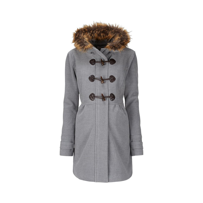 2HEARTS Umstands-Mantel Romantic Duffle Coat mit Fake Fur