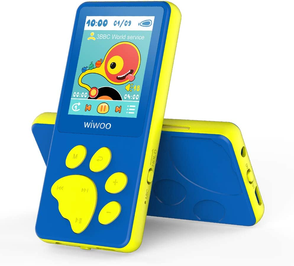 Wiwoo MP3 Player for Kids, Portable Music Player with FM Radio Video Games Sleep Timer Voice Recorder
