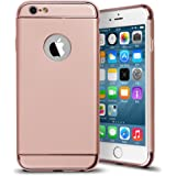 iPhone 6s Case, Baesan 3 in 1 Electroplate Frame and Ultra Thin Design Coated Premium Non Slip Surface with Excellent Grip Case Fit for iPhone 6 and iPhone 6S (4.7'') -- Rose Gold