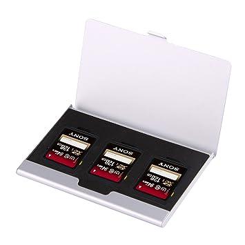 Estuche para memorias SD 3 en 1 Plateado en Aluminio, una ...