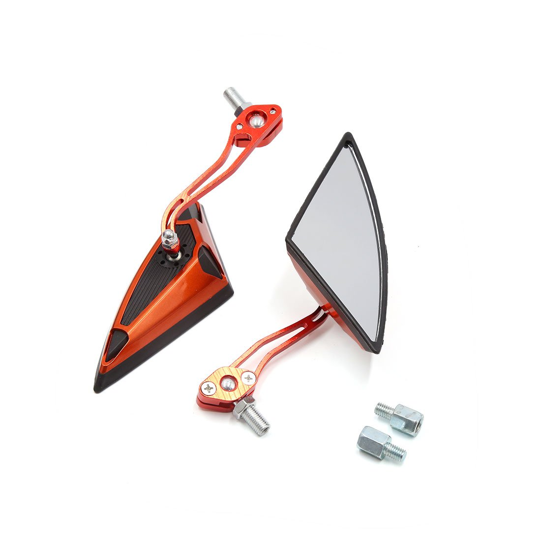 sourcing map 2pcs Triangle Orange Noir R/étroviseur r/églable pour Moto