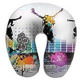 Owen Pullman Travel Pillow Dance Music Memory Foam Neck Pillow Comfortable U Shaped Neck Support Plane Pillow