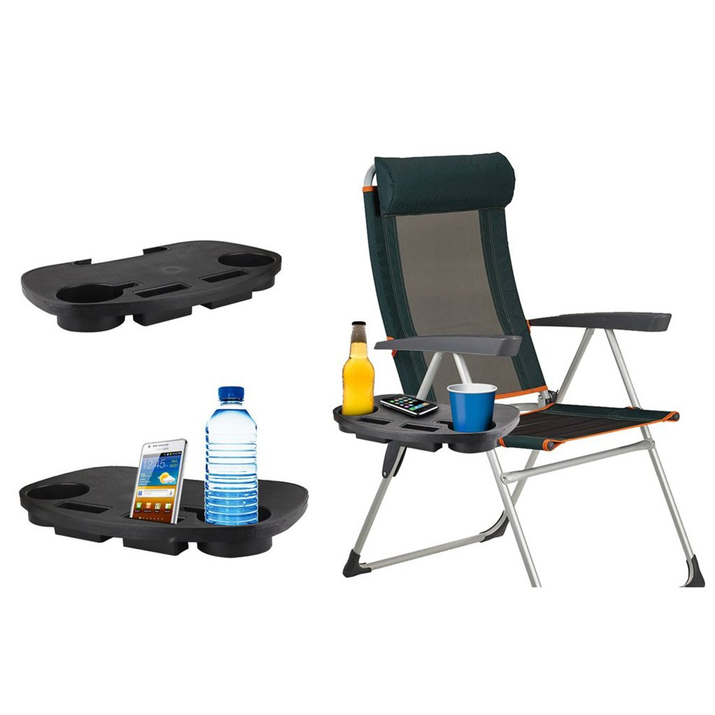 DYNWAVE 2pcs Durable Clip-on Reclining Chair//Zero Gravity Chair Tray Cup Holder 2#
