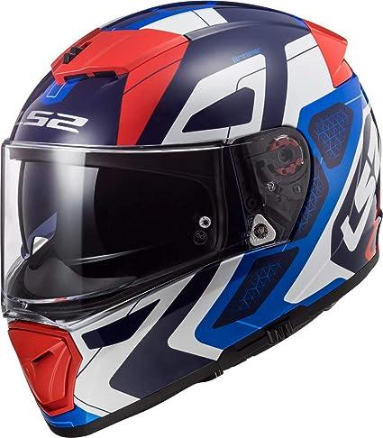 Ls2 Herren Nc Motorrad Helm Blau Weiss Rot M Auto