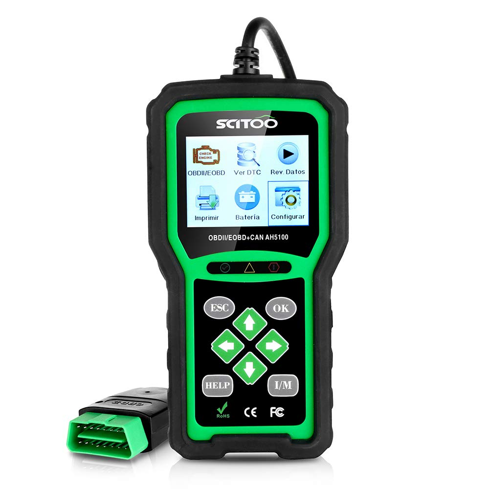 OBD2 Scanner Engine Check Light Fault Code Reader Automotive CAN Diagnostic Scan Tool AH5100 by SCITOO (Image #1)