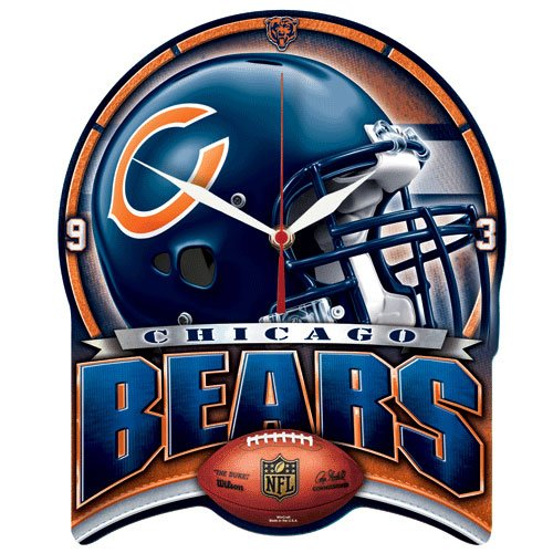 Chicago Bears 11x13 HD Plaque Clock - Wincraft Chicago Bears Clock