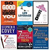 So good they can't ignore you, drive, life leverage, 7 habits of highly effective people and teens and personal workbook 6 books collection set