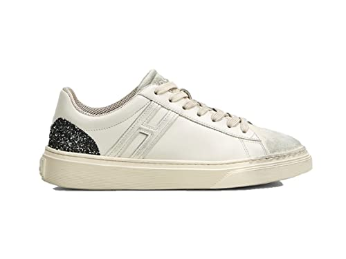 Hogan Scarpa Donna H365 HXW3650J971JES0LKP Sneakers Donna Pelle Bianca  Sporcata  MainApps  Amazon.it  Scarpe e borse 578bbf9978a