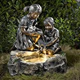 Fratelli Siblings Rock Outdoor/Indoor Fountain with Light For Sale