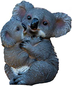 CenYC Koala Bear Ornaments,Resin Animal Funny Outdoor Sculpture Ornaments,Garden Statue Animal Figurines for Patio Yard Lawn House Home Decorations