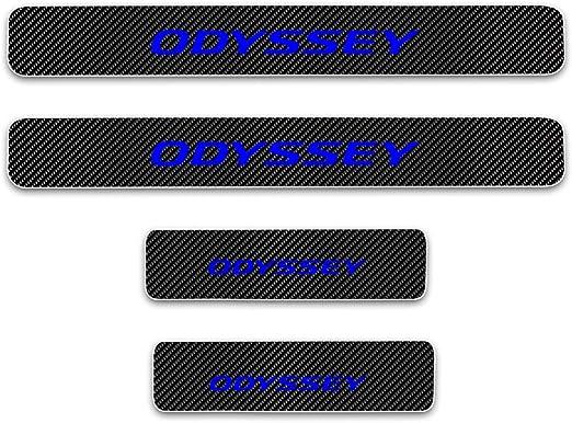Rvinyl Rtrim Pillar Post Decal Trim for Honda Odyssey 2005-2010 Black Carbon Fiber 4D