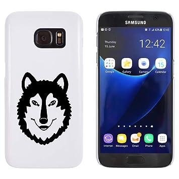 Azeeda Blanco Cabeza de Lobo Funda / Carcasa para Samsung ...