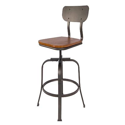 Amazing Amazon Com Delacora Bibs005Ab Tara 42 Inch Tall Metal Bar Machost Co Dining Chair Design Ideas Machostcouk