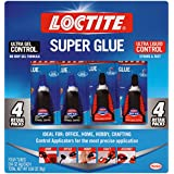 Loctite 2002988 Super Glue Control Ultra Gel and Ultra Liquid 4 g Bottles (Pack of 4)