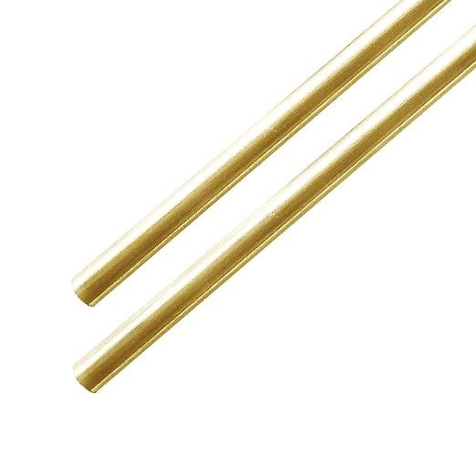 1//8 Brass Rods Brass Round Stock Lathe Bar Stock Kit Round Brass Stock Solid Brass Rods,1//8 Inch in Diameter 12 Inch in Length