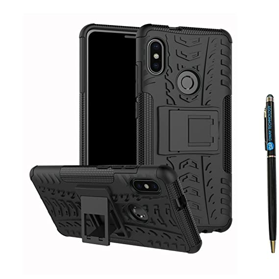 buy online 956fd cd4c8 Redmi Note 5 Pro Cover Hybrid DWaybox Rugged Heavy Duty Armor Hard Back  Cover Case with Kickstand for Xiaomi Redmi Note 5 Pro/Redmi Note 5 5.99  Inch ...