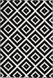 Summit JM-GAW0-FK75 46 Black White Diamond Area Rug Modern Abstract Many Sizes Available , DOOR MAT 22 inch x 35 inch Review