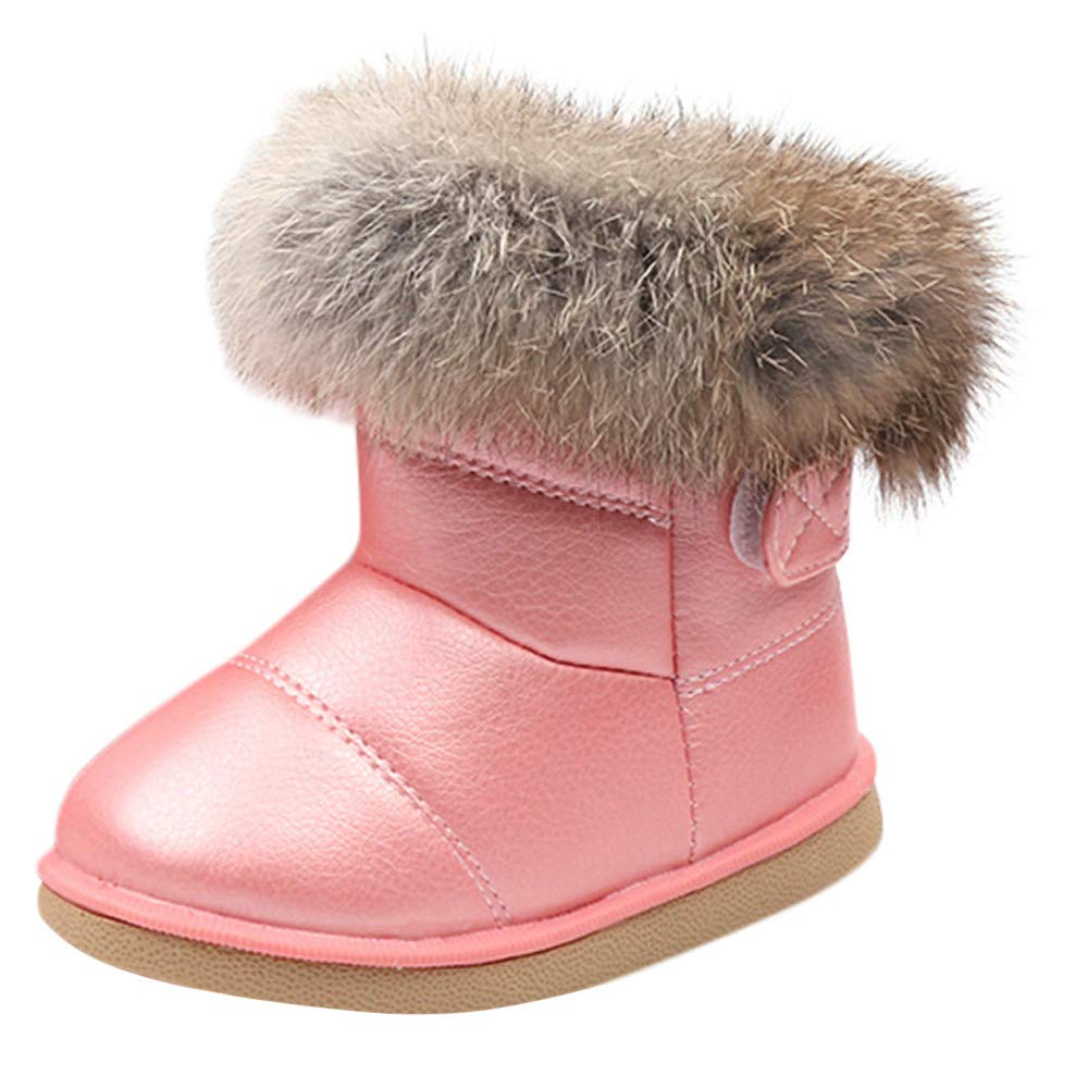 12M-6T Toddler Baby Boy Girl Leather Soft Sole Boot Kids Winter Warm Snow Shoes AutumnFall®