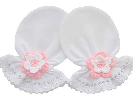 100% algodón Jersey manoplas antiarañazos para bebé recién nacido ...