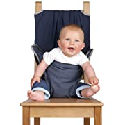 Totseat Chair Harness: The Washable and Squashable Travel High Chair in Denim