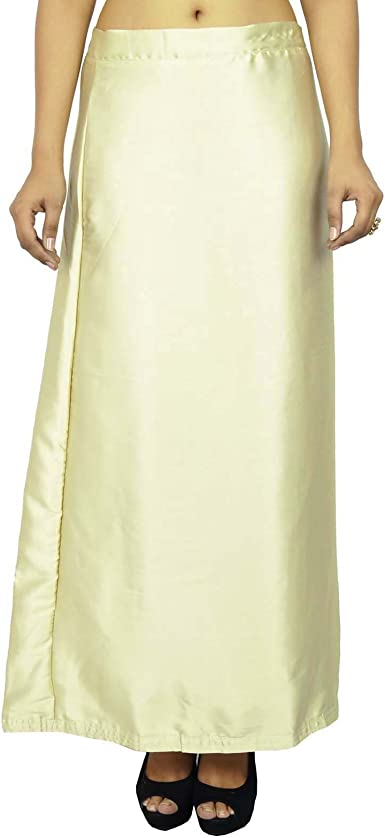 Saree Underskirt Solid Cotton Stitched Petticoat Skirt Saree Petticoat For Her