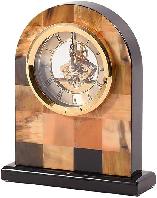Qddan Reloj De Chimenea De Madera Relojes De Metal Antiguos ...