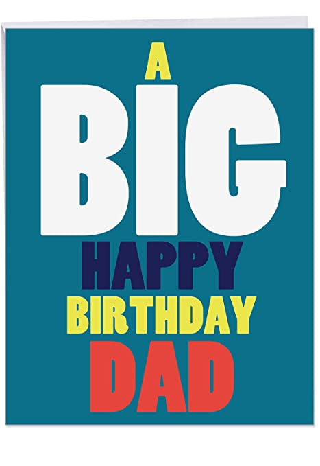 NobleWorks Big Happy Birthday Father Giant Greeting Card With Envelope 85 X 11