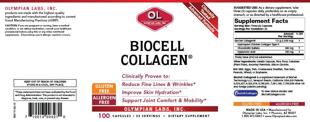 Olympian Labs - Biocell Collagen Ii, 100 capsules by Olympian Labs: Amazon.es: Salud y cuidado personal