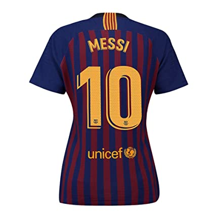 dfe25f3482d Noumhtz Womens Barcelona #10 Messi New 2018/19 Home Soccer Jersey (Blue,
