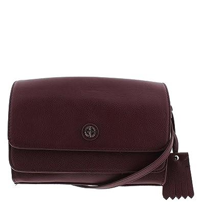 9fcec7d61 Image Unavailable. Image not available for. Color: Giani Bernini Womens  Kilty Leather Flap Crossbody Handbag ...
