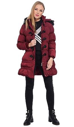 Amazon.com: HG - Chaqueta de plumón con capucha para mujer ...