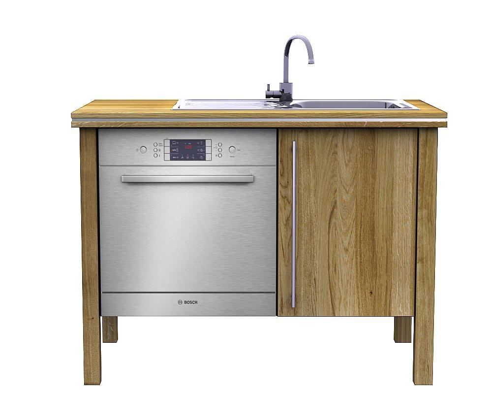 Annex Küchen spülmodul 3 4 eiche massivholzküche massivholz ökoküche bioküche