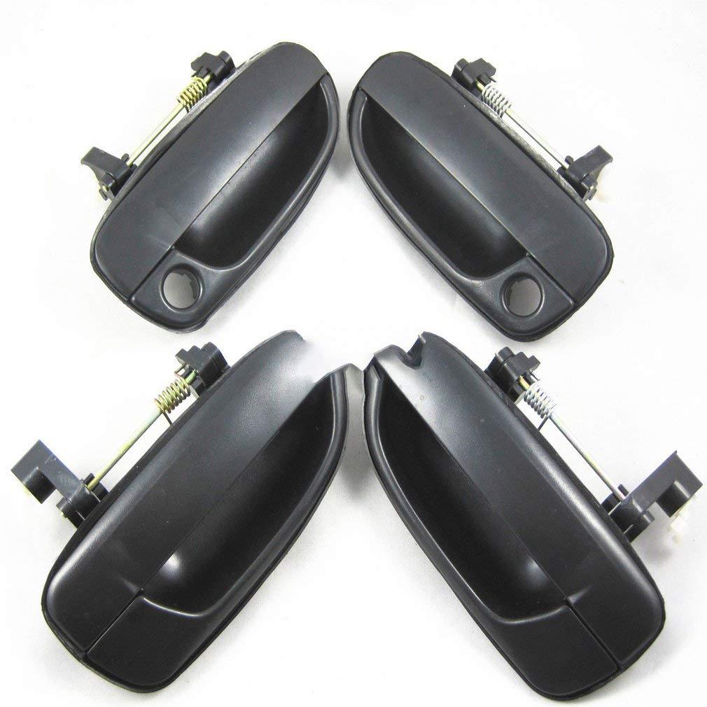 guoxuEE Juego de 4 Piezas con manija Exterior para Hyundai Accent 2000-2006 Negro
