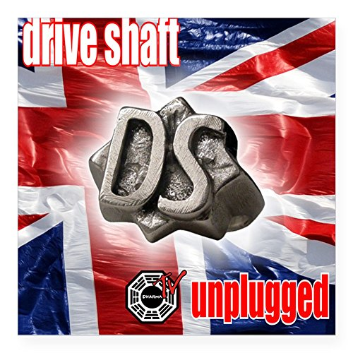 """CafePress - Drive Shaft Unplugged Square Sticker - Square Bumper Sticker Car Decal, 3""""x3"""" (Small) or 5""""x5"""" (Large)"""