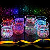 Liquid Activated Multicolor LED Tumblers ~ Fun Light Up Drinking Glasses - 6 oz. - Set of 8