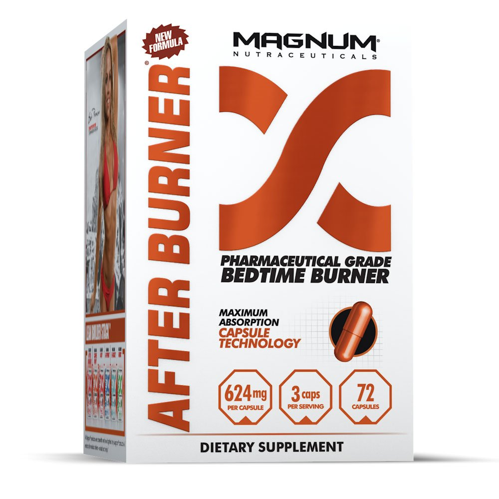 Magnum Nutraceuticals After Burner Bedtime Burner - 72 Capsules - Thermogenic - Fat Burner - Reduce Food Cravings - Increases Fat Loss While You Sleep