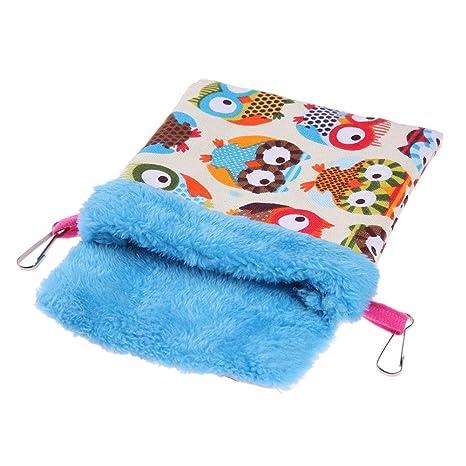 hongxyunf Loro Manta para Mascotas Estera Hamster Saco de Dormir Cama de Algodón Nido de Animal
