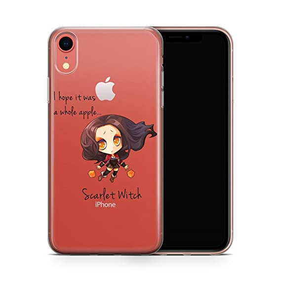 new concept bce21 b4996 iPhone XR Case, Aertemisi Clear TPU Soft Slim Flexible Silicone Cover Phone  Case for Apple iPhone XR (6.1'') - Scarlet Witch Wanda Maximoff