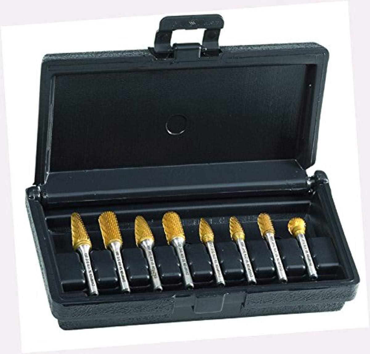 SA5, SC3, SC5, SD5, SF3, SF5, SG3, SL4 Champion BK8P Titanium Nitrite Coated Bur Set Solid Carbide 8 Piece