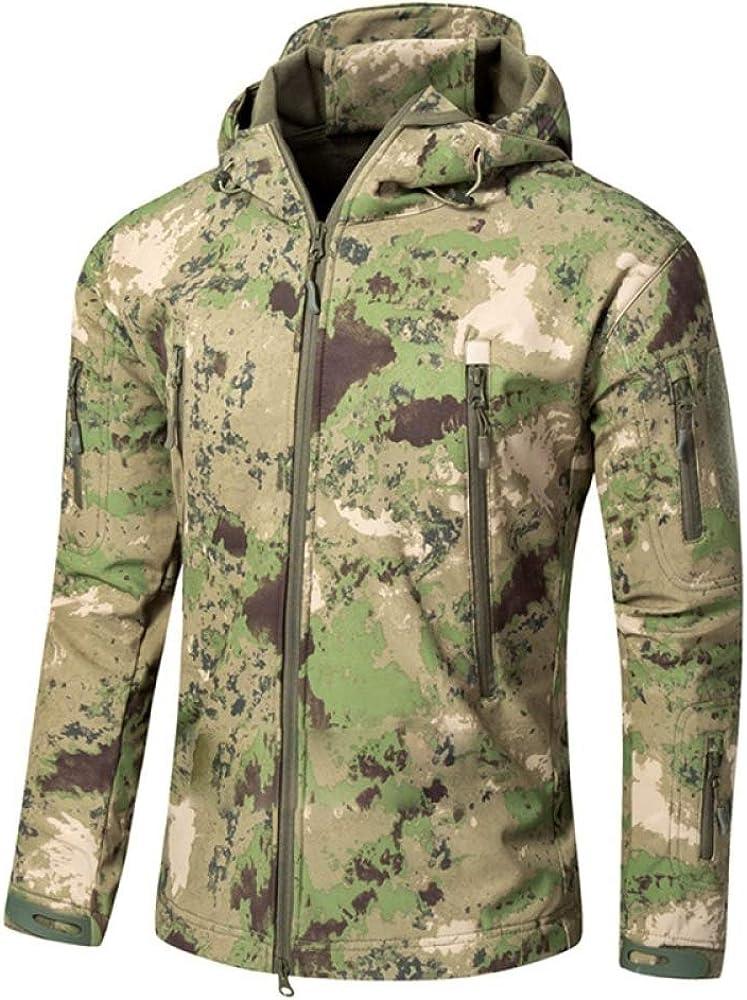 LDHVF Chaquetas de Softshell para Exteriores Impermeables para Hombres Abrigos tácticos Militares cálidos Camuflaje Abrigo Camuflaje 5